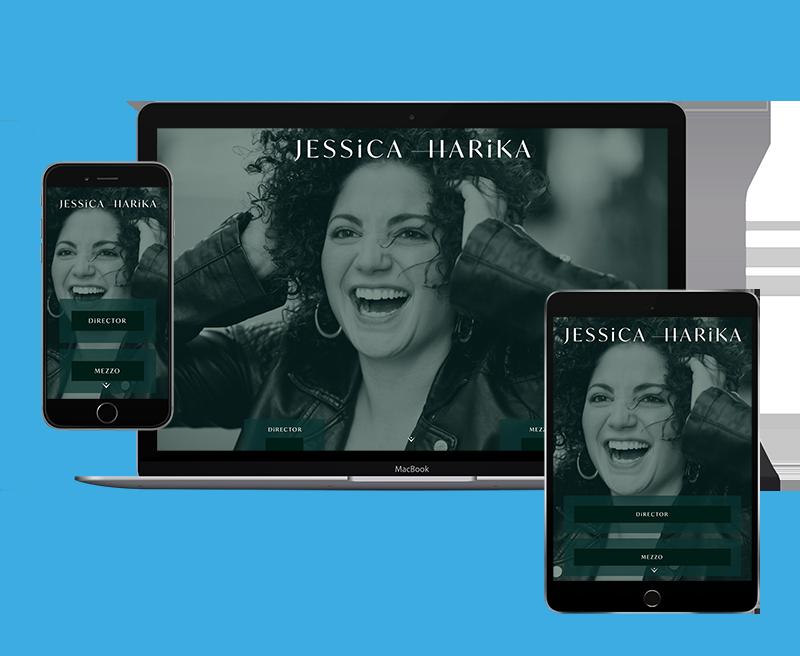 Jessica Harika singer director portfolio mockup
